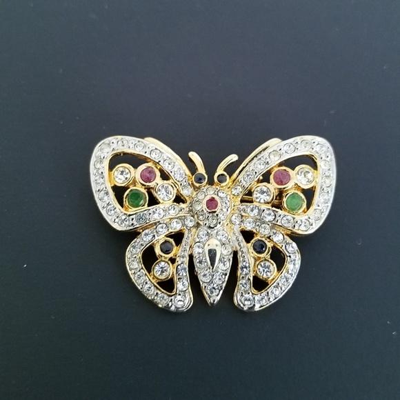 046ac5040e9 Jewelry | Dazzling Gold Butterfly Lapel Pin Brooch | Poshmark